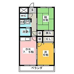 TAKEOFF 7[3階]の間取り