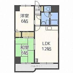北海道札幌市東区北二十一条東16丁目の賃貸マンションの間取り