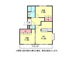 愛知県小牧市大字林の賃貸アパートの間取り