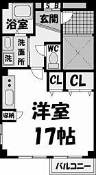 兵庫県西宮市川添町の賃貸マンションの間取り