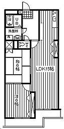 第一葵マンション[402号室]の間取り