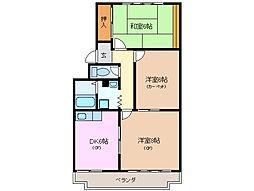 三重県四日市市西伊倉町の賃貸マンションの間取り