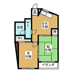 石神ビル[3階]の間取り