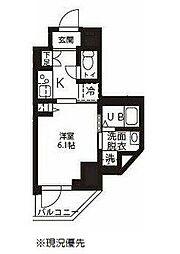 ハーモニーレジデンス新横浜 5階1Kの間取り