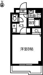 神領ステーションビル[407号室]の間取り