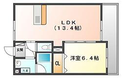 グレースコート神戸[3階]の間取り