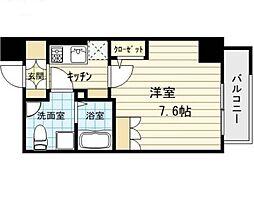 アドバンス西梅田IVエール[4階]の間取り