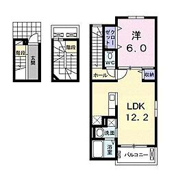 八坂町アパート[0301号室]の間取り