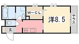 サンティア[1階]の間取り