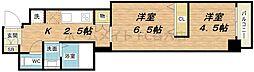 インザグレイス心斎橋[8階]の間取り
