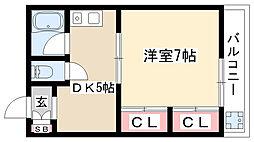 栄ガーデンハウス[201号室]の間取り
