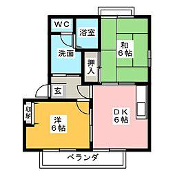モンシェリ3番館[2階]の間取り