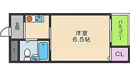 ブロッサム阿倍野[3階]の間取り