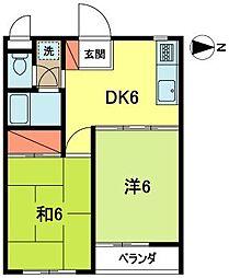 ハイツ浜田山[3階]の間取り