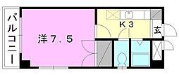 ブラウンハイム3[401 号室号室]の間取り