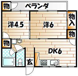 旭ビル[3階]の間取り