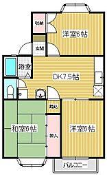 ファミュ名島[202号室]の間取り