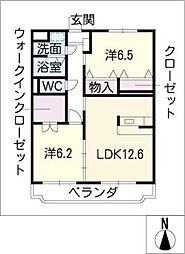 ピノプエブロ[1階]の間取り