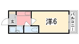 兵庫県姫路市田寺3の賃貸マンションの間取り