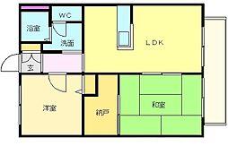 シャトレ・グランメール[2階]の間取り