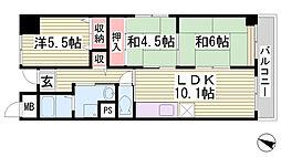 レノバール神戸[6階]の間取り