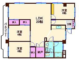 東神奈川フラワーマンション[2階]の間取り
