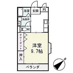 サンハイム永新B棟 1階[101号室]の間取り