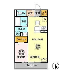 (仮称)D−room 中成沢町[2階]の間取り