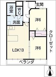 スカーラ・江向[1階]の間取り