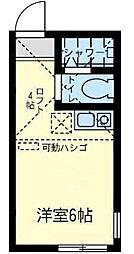 神奈川県横浜市金沢区洲崎町の賃貸アパートの間取り