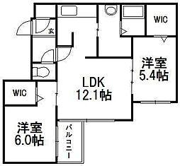 Noce円山[2階]の間取り