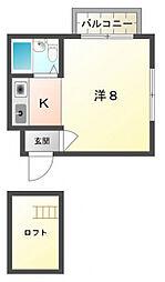 萱島パークハイツA棟[3階]の間取り