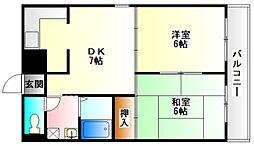 リード21[6階]の間取り