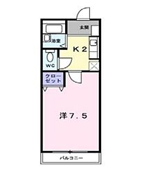 兵庫県神戸市西区森友1丁目の賃貸アパートの間取り
