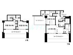 ルネス・ピース清水南[4階]の間取り
