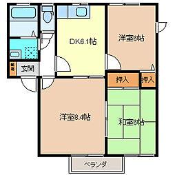 ゼネラルハウスK B[1階]の間取り