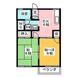 シャインハイツ5[2階]の間取り