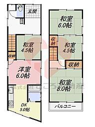 堺市東区草尾戸建 1階5DKの間取り