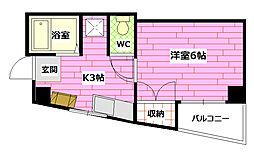 カキウチビル[2階]の間取り