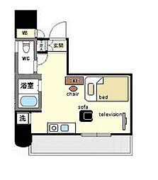 家具、家電付きロマネスク天神アネックス B[9階]の間取り