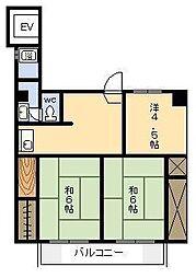 ロイヤルハイツ神宮[201号室]の間取り