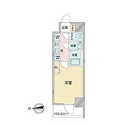 アステリ鶴舞ディオ 11階1Kの間取り