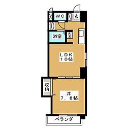 グッチハイム葵[4階]の間取り