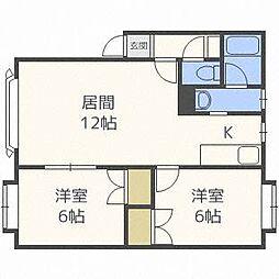 コニパルD[2階]の間取り