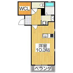 THE GARNET SUITE RESIDENCE龍谷大前 5階ワンルームの間取り