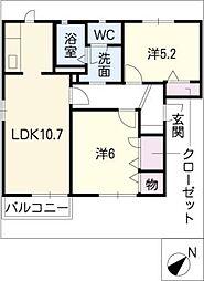 カリメーラ D棟[1階]の間取り