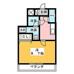 プリミエール鳥居松II[3階]の間取り