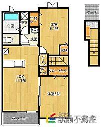 Rest HouseIII B[2階]の間取り