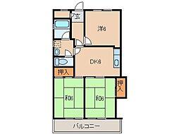 AREA伏虎[5階]の間取り