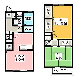 愛知県尾張旭市向町4丁目の賃貸アパートの間取り